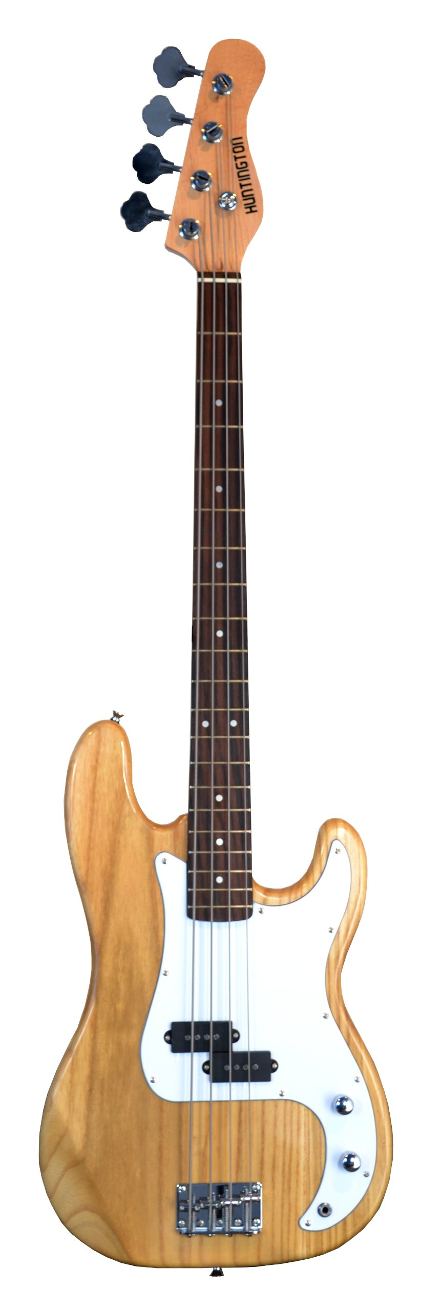 Full Size 4 String Precision P Electric Bass Guitar NATURAL with Gig Bag and Accessories (Includes, Strap, String, & DirectlyCheap(TM) Translucent Blue Medium Guitar Pick)