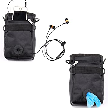 Hotsel Dog Treat Pouch portatile Mini Outdoor Dog Treat borsa con cintura in vita con clip per la vita di animali stuzzichini per dolcetti giocattoli sicuro e durevole