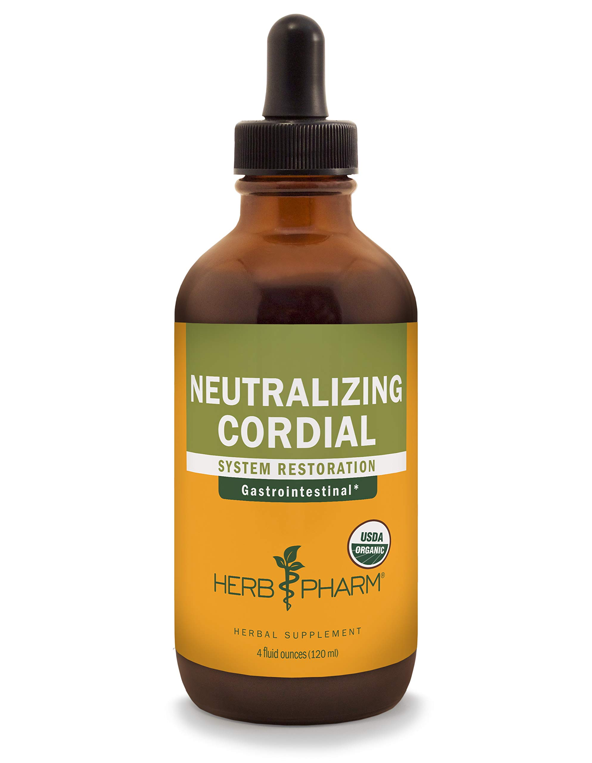 Herb Pharm Neutralizing Cordial Liquid Herbal Formula for Digestive System Support - 4 Ounce
