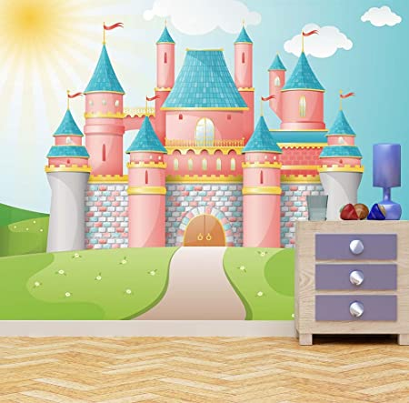 Princess Castle Wall Mural Photo Wallpaper Kids Bedroom Fantasy FairyTale Kingdom XX Large 3000mm X