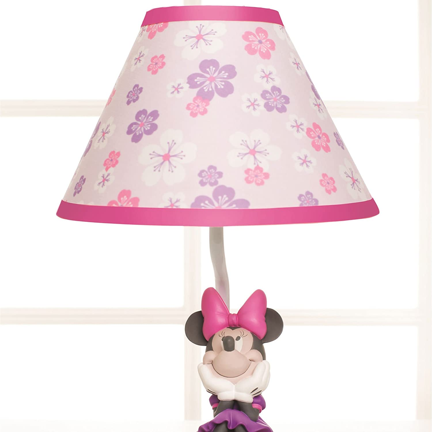 Amazon disney baby minnie mouse love blossoms premier lamp amazon disney baby minnie mouse love blossoms premier lamp base and shade baby geotapseo Gallery