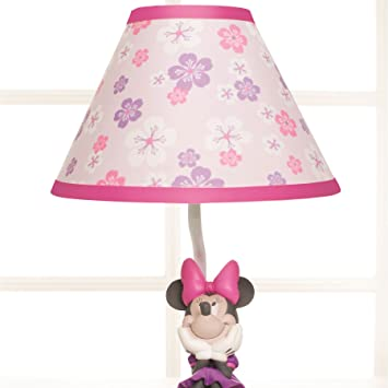Disney Baby Minnie Mouse Love Blossoms Premier Lamp Base And Shade