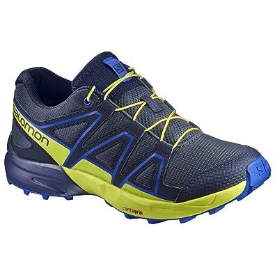 Salomon Kid's Speedcross Running Sneakers, Blue, Textile, Mesh, 10.5 Little  Kid M