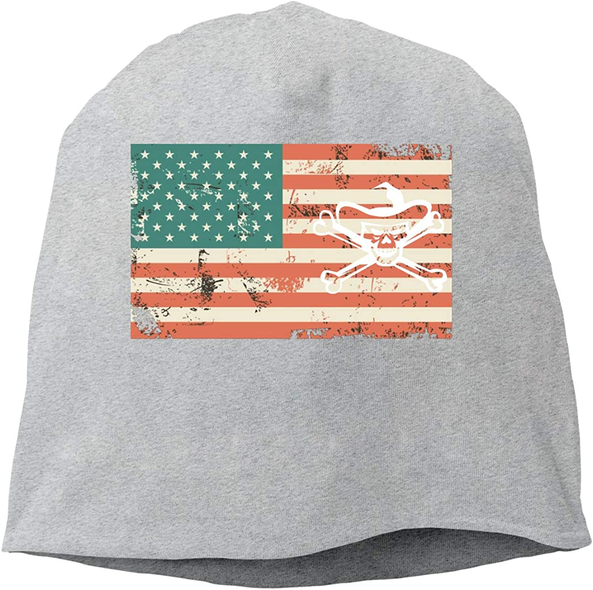 Cowboy Pirate Skull US Flag Unisex Knitted Hat Beanie Hat Warm Hats Skull Cap