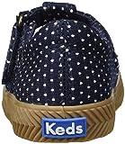 Keds Girls' Daphne Herring ND Sneaker, Navy dot, 12