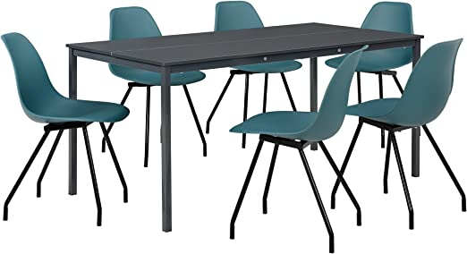 design mobilier Conjunto Mesa 160 x 80 cm + 6 sillas: Amazon.es: Hogar