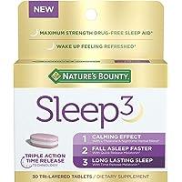 Nature's Bounty Sleep3 Tri-Layer Melatonin, With L-Theanine & Nighttime Herbal Blend...
