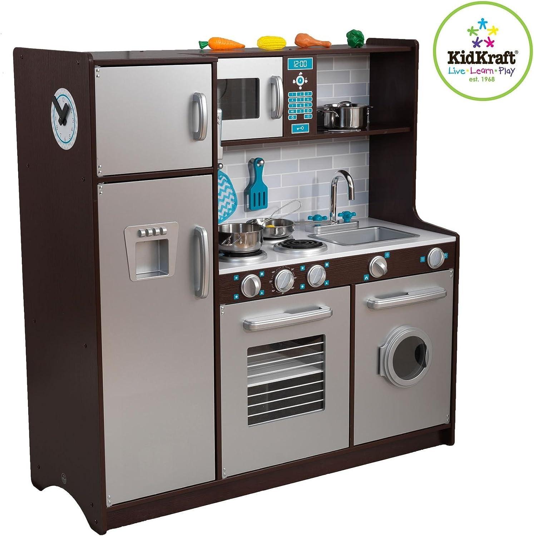 Amazon.com: KidKraft Modern Midtown Espresso Kitchen with