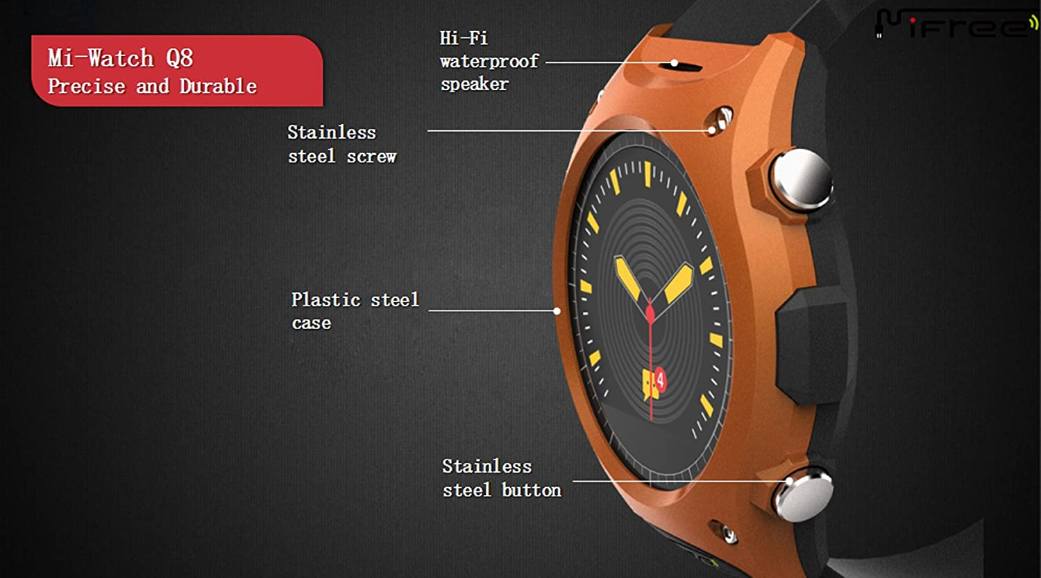 LUOOV Mifree Q8 SmartWatch impermeable profesional Ourdoor ...