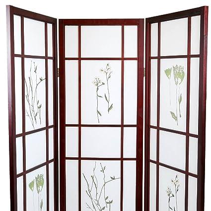 Amazoncom Magshion Oriental Room Divider Hardwood Shoji Screen 3