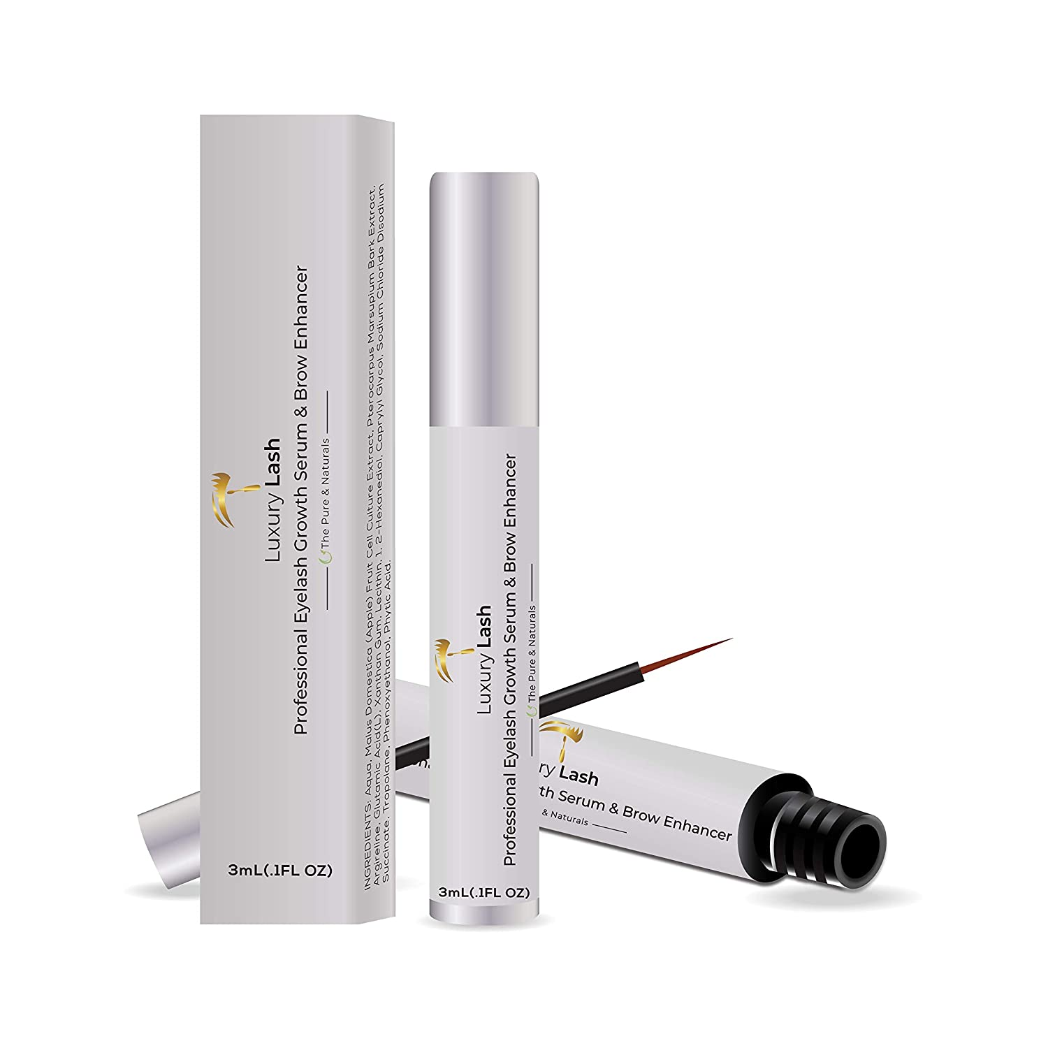 Luxury Lash and Brow - Eyelash Growth Serum and Enhancer Irritation Free Formula 3ml