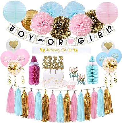 "PINK GIRLS 12/"" HONEYCOMB BOTTLE DECORATION BABY SHOWER GENDER REVEAL PARTY"