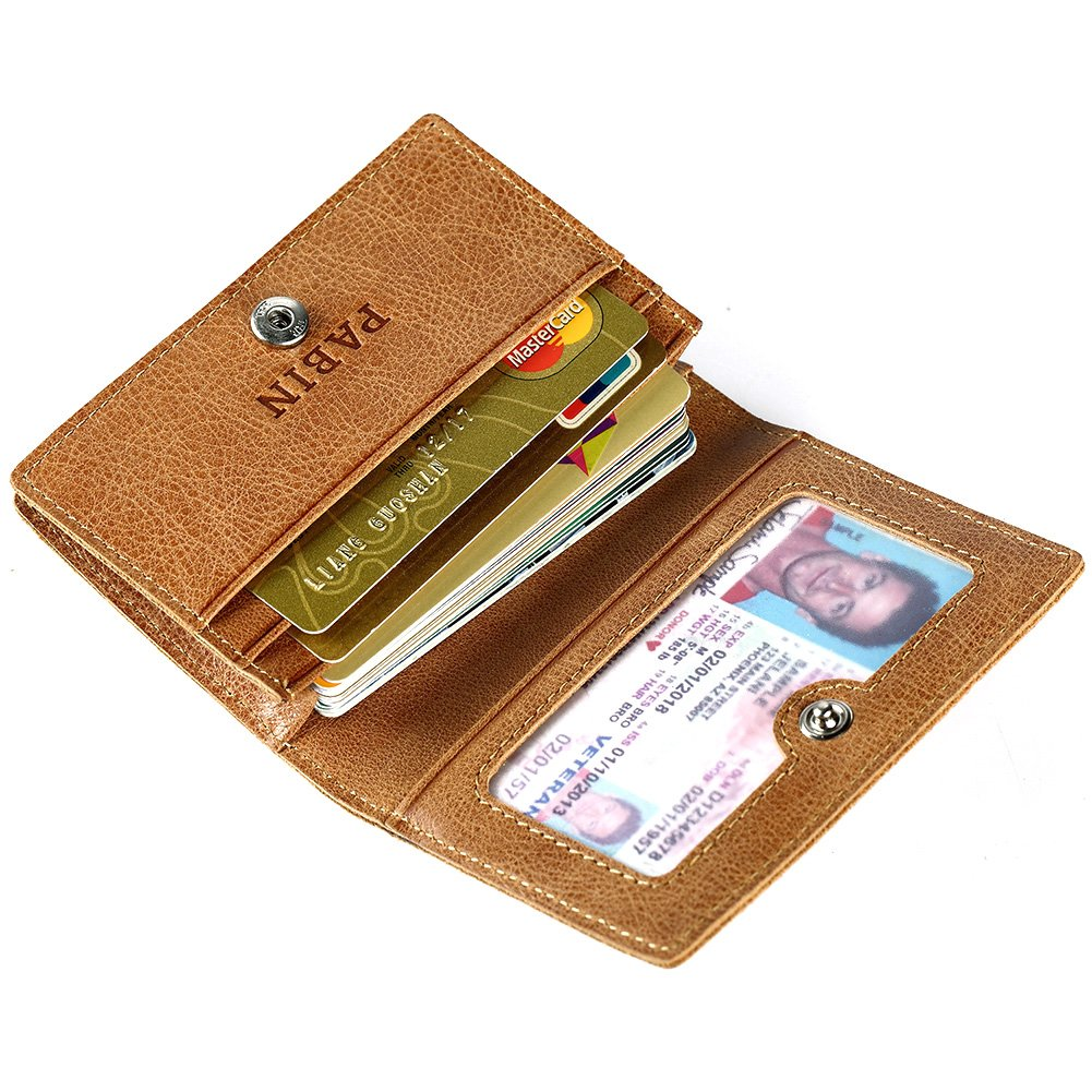 RFID Blocking Credit Card Holder Leather ID Case for Men Pabin (Vintage Brown) by Pabin (Image #8)