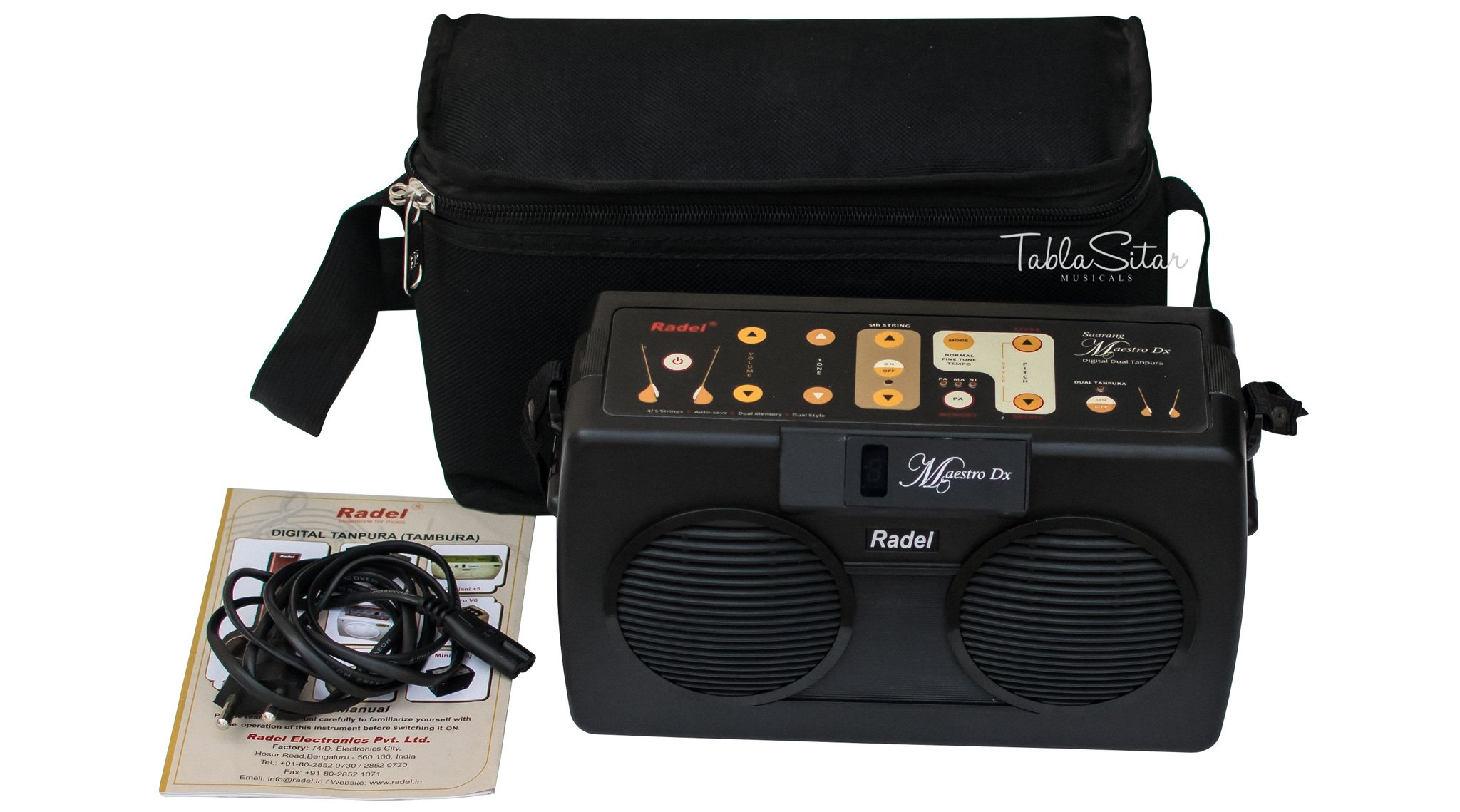 Radel at buyRaagini Maestro DX Electronic Tanpura Shruti Box (Black) product image