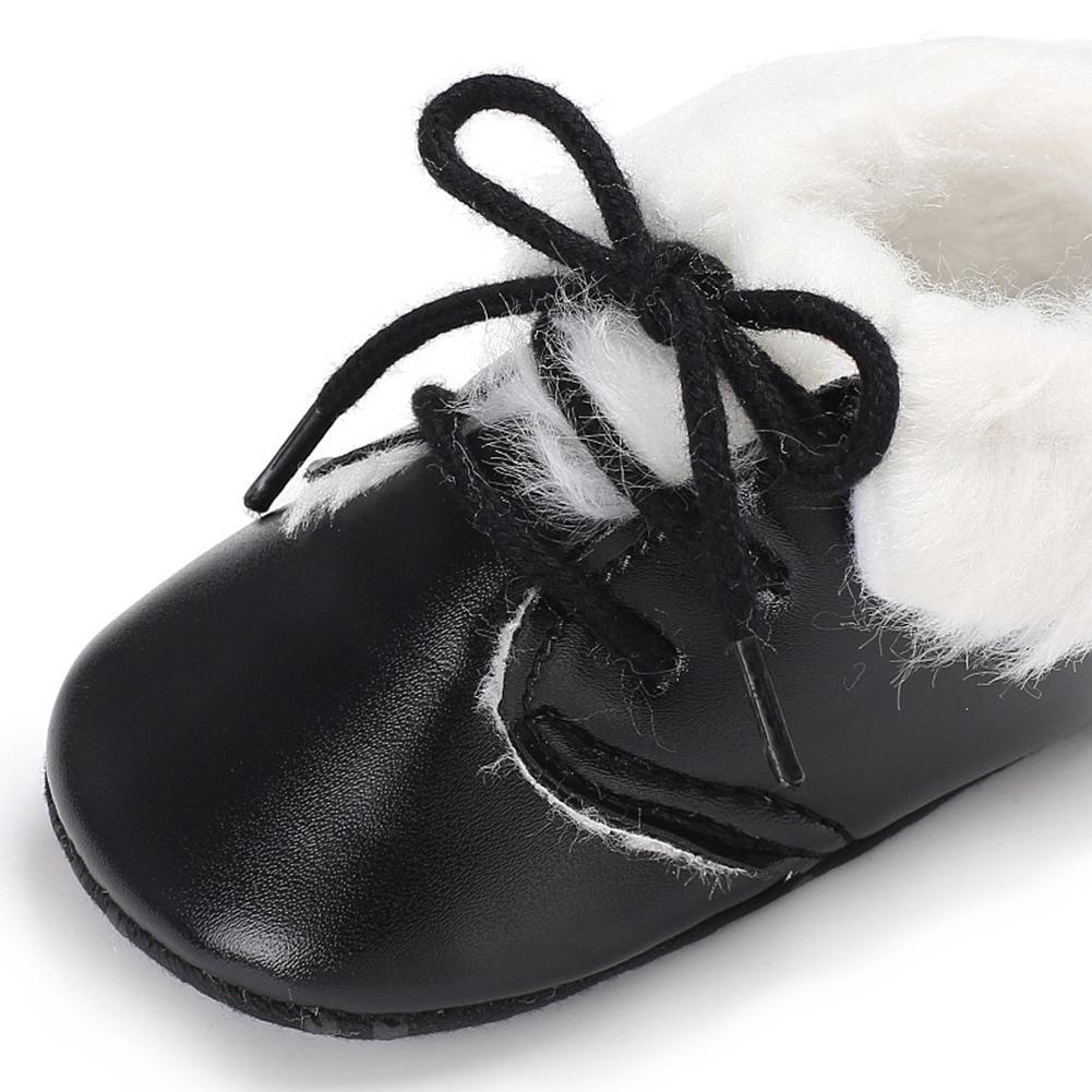 Angel3292 Newborn Baby Boys Girls Laced Soft Sole Boots Infant Warm Walking Crib Shoes