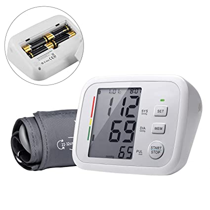 Esfigmomanómetro Digital, Kapmore Monitor de Presión Arterial Brazo Para Uso en El Hogar Con Manguito