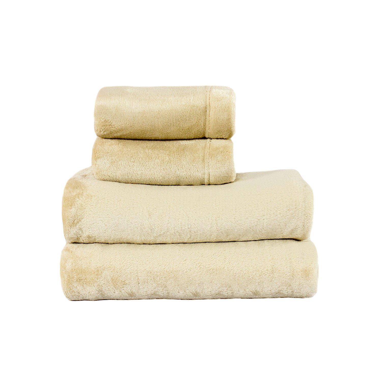 Cozy Fleece Microplush Sheet Set, Full, Black Cozy Fleece Inc. FFSSFLBlack