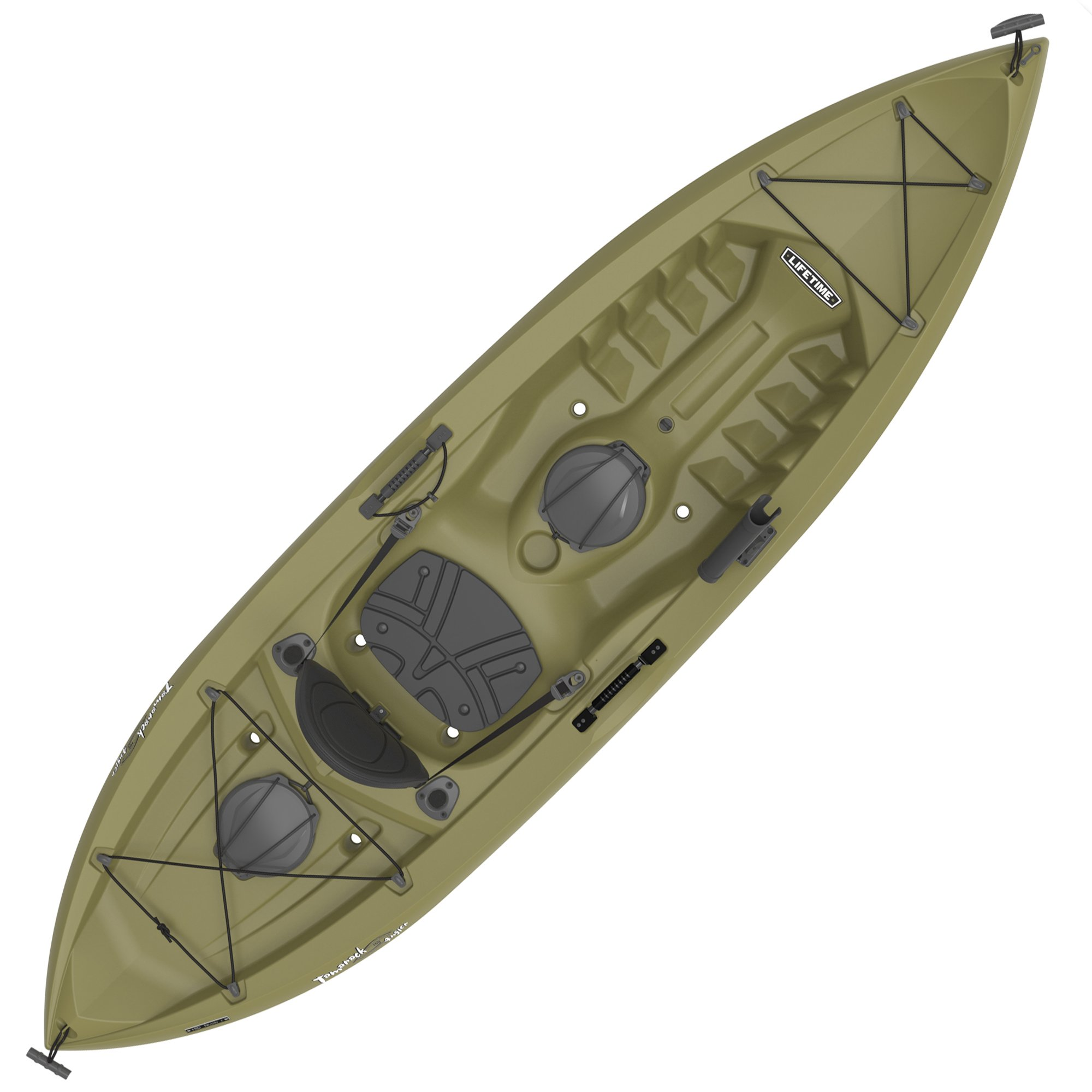 Lifetime Tamarack Angler Sit-On-Top Kayak, Olive, 120'' by Lifetime