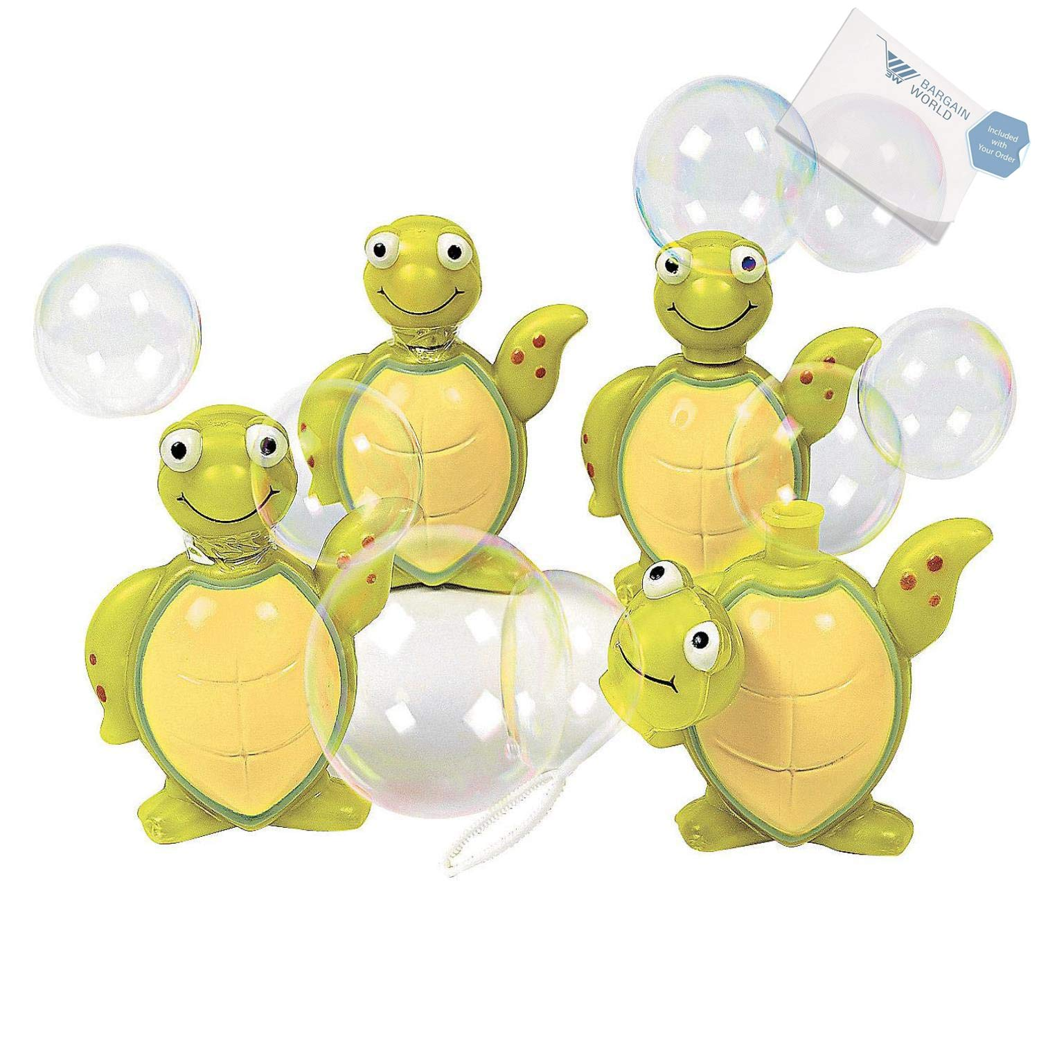 Bargain World Plastic Sea Turtle Bubble Bottles (With Sticky Notes)
