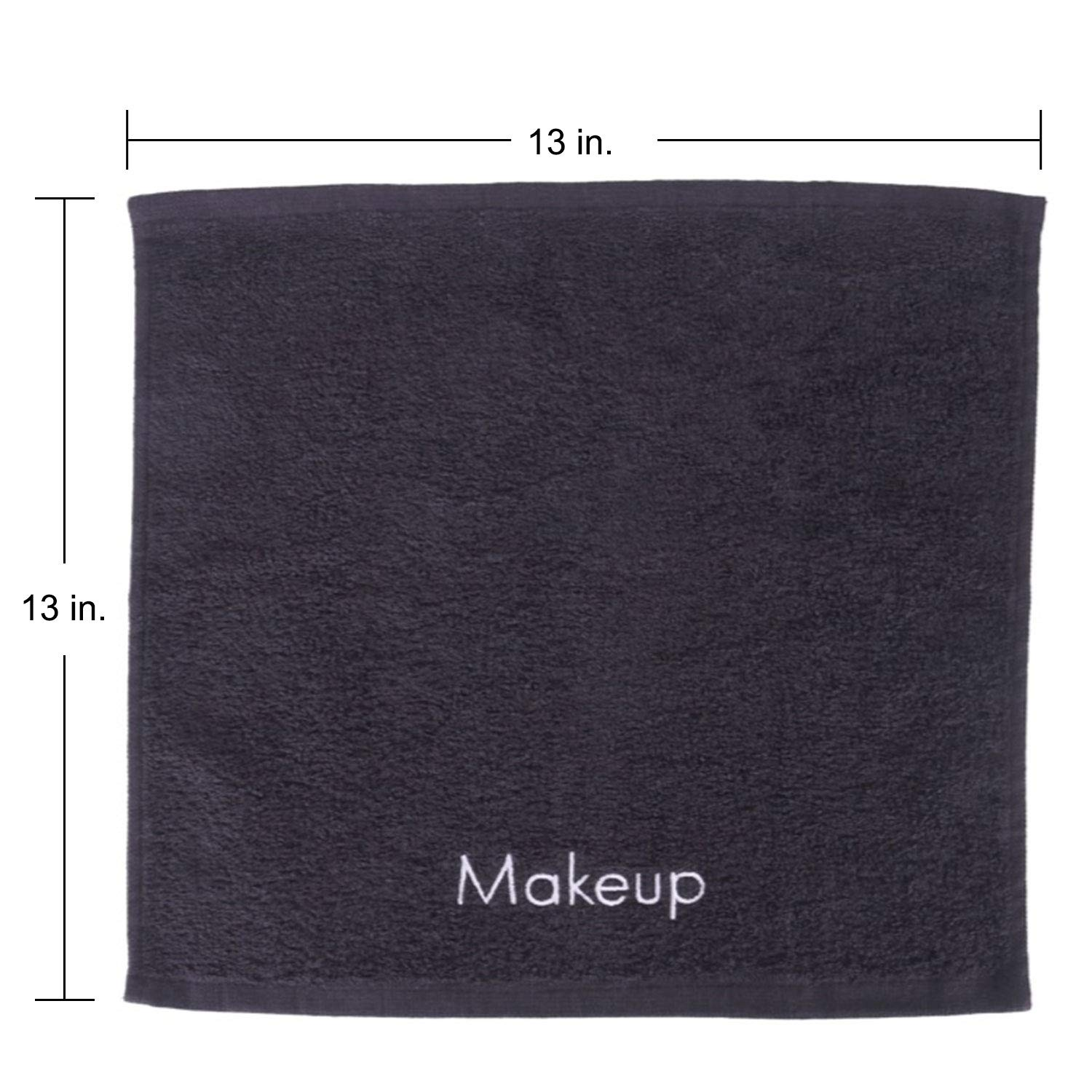 Arkwright Makeup Remover Towel, Pack of 6 Soft Cotton Towel Holiday Gift for Women (Black): Beauty