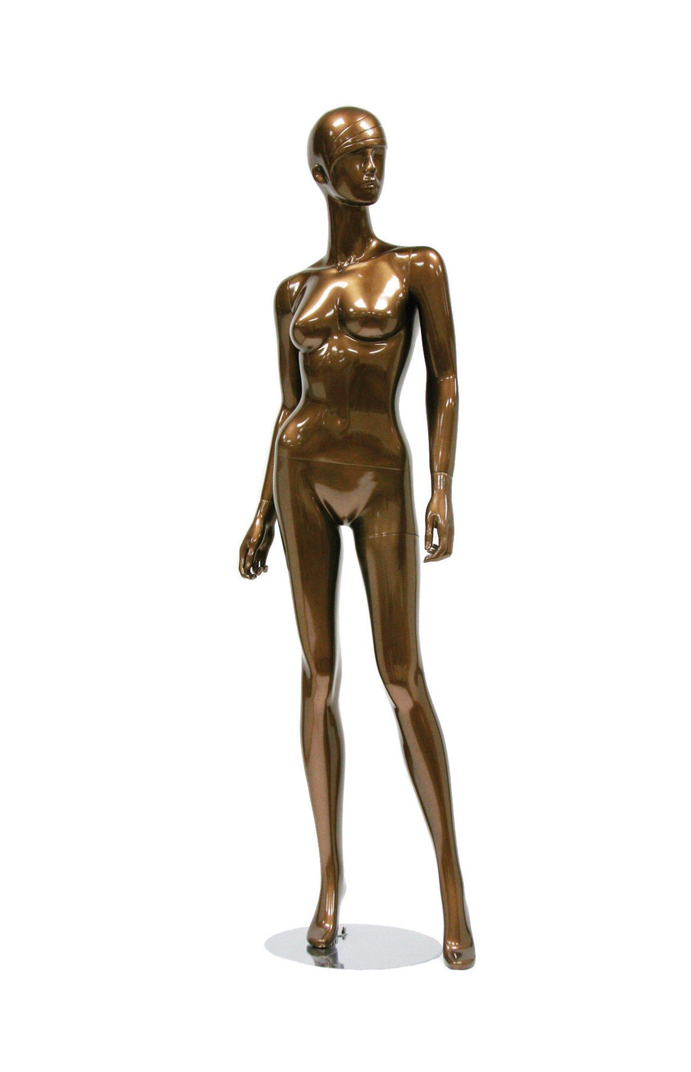 Newtech Display MAF-S2-401/SMBR (401) Trendy Female Mannequin, Shiny Metallic Bronze