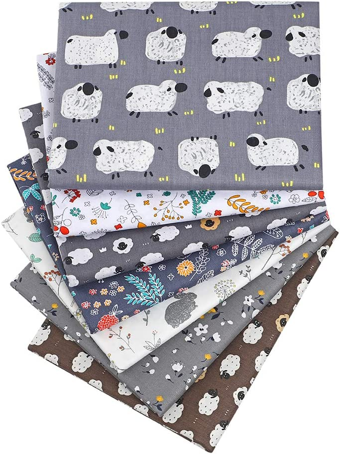 Quilting Fabric,Multi Grey White Fat Quarters Fabric Bundles