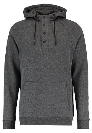 YOURTURN Hoodie Herren Anthrazit Grau - Sweatshirt mit Kapuze   Tasche, ... 225ec7019b