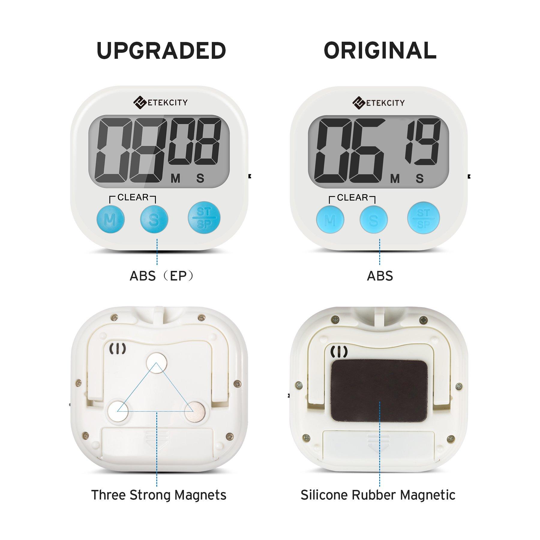 Etekcity Digital Kitchen Timer, Big Digits Loud Alarm Magnetic ...