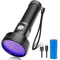 Uv-zaklamp 51 LED UV-zaklamp 395 nm ultraviolet zwart licht met USB-kabel voor het detecteren van urinevlekken bij…