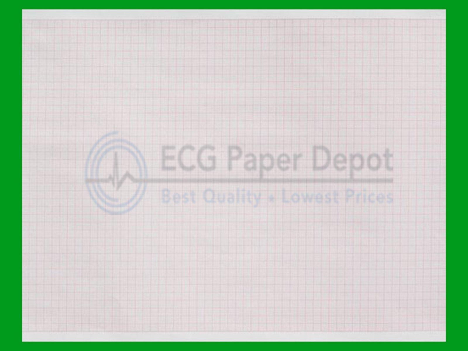 Mortara Compatible 18416-002 Generic ECG Paper 10 Pack, Z-Fold, Red Grid, 8.50'' x 11''