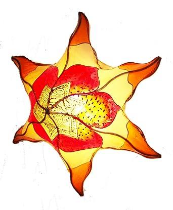 Plafonnier Lustre Marocain En Peau Fer Forge 60cm Applique Lampe