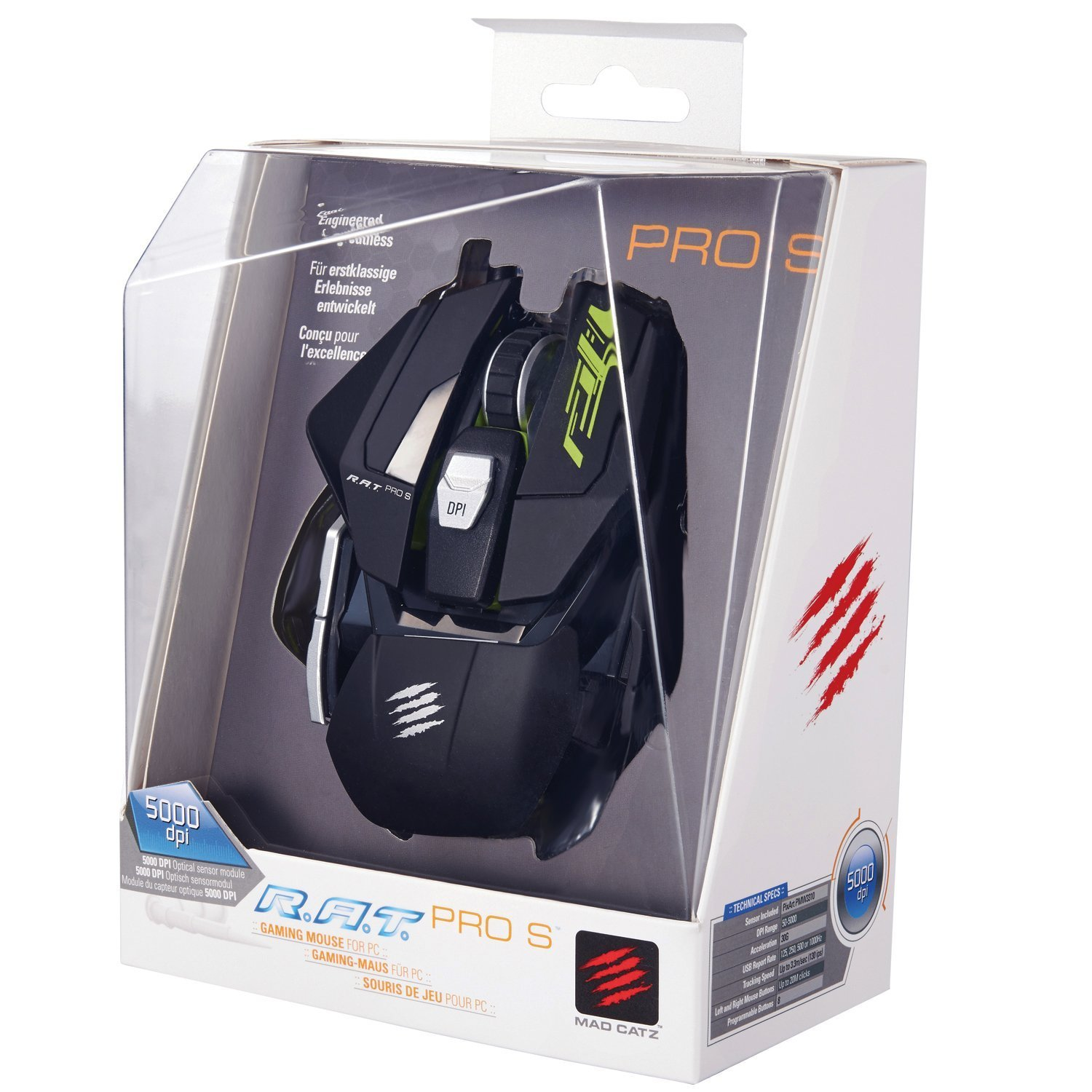 Amazon Mad Catz R A T PRO S Gaming Mouse for PC MCB A6 04 1 puters & Accessories