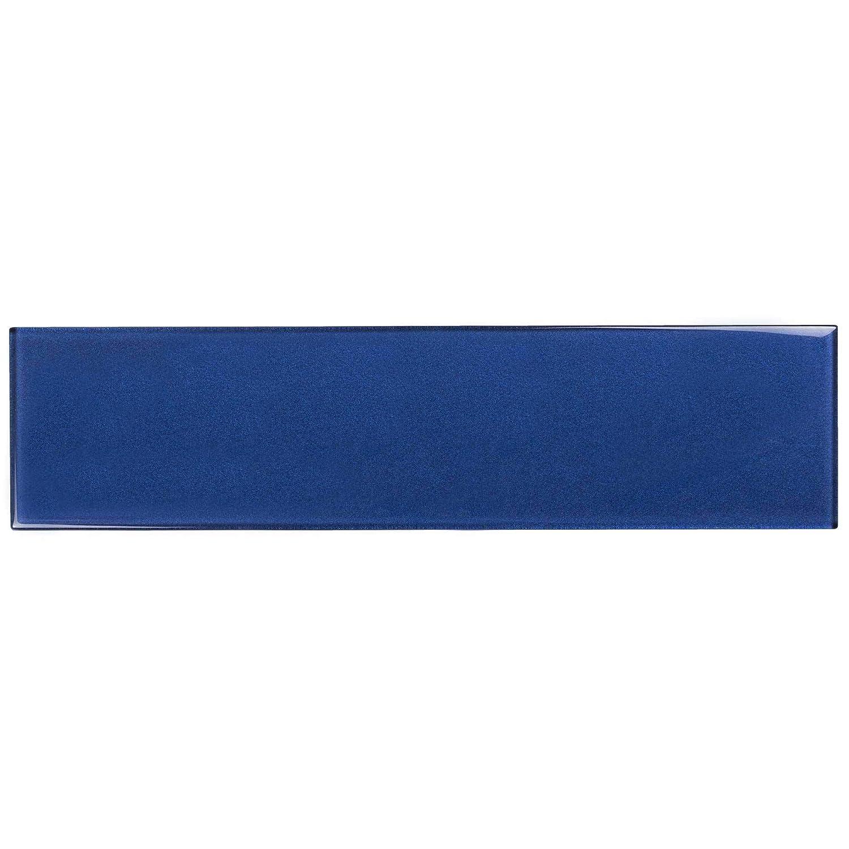 MTO0330 Classic Subway Blue Glass Mosaic Tile
