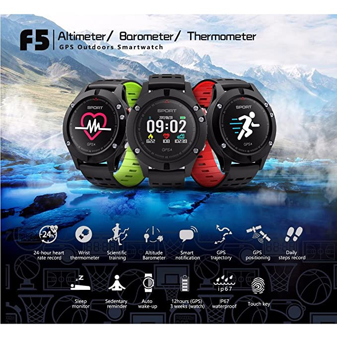 Amazon.com: F5 GPS Smart watch Altimeter Barometer ...