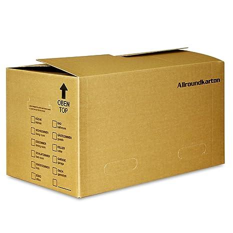 Cajas de cartón para almacenaje de libros y archivadores (40 kg de carga, 530