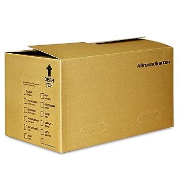 Cajas de cartón para almacenaje de libros y archivadores (40 kg de carga, 530 x 335 x 315 mm): Amazon.es: Bricolaje y herramientas