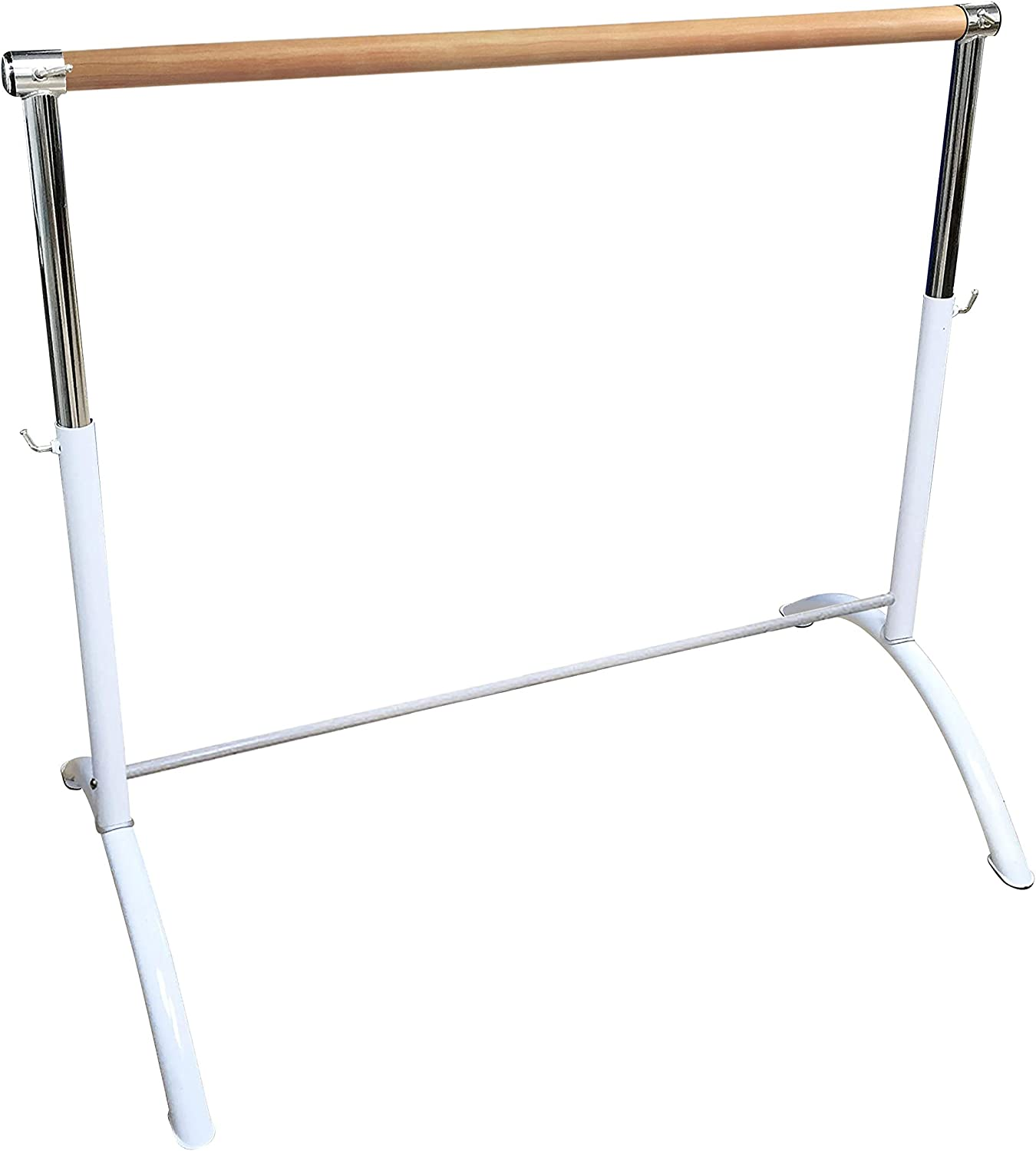 Ballet Barre Portable for Home I Adults & Children, Lightweight, Adjustable, White Single Ballet Bar, Freestanding Barre Equipment for Home - Perfect for Exercise, Balance, Building Core & Flexibility