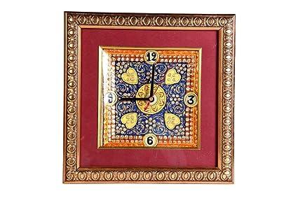 Amazon Com Indian Handicrafts Export Marble Of Pan Shape Clock