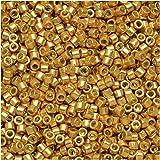 Miyuki Delica Seed Beads 11/0 - Duracoat Galvanized Gold DB1832 7.2 Grams