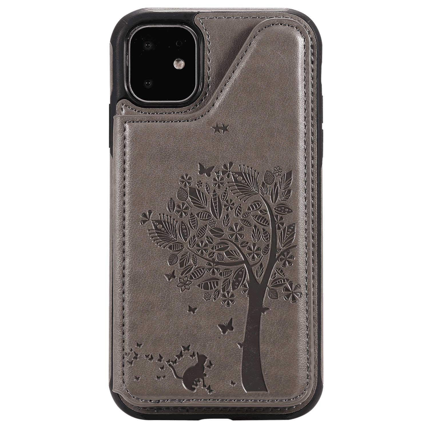 Shockproof Leather Flip Case for iPhone 7 Plus Business Wallet Cover Compatible with iPhone 7 Plus Smartphone