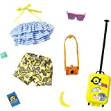 Barbie Storytelling Fashion Pack of Doll Clothes Inspired by Minions: Halter Top, Banana Shorts and 6 Accessories Dolls, Gift
