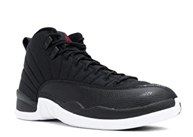 e2ef3527000 Image Unavailable. Image not available for. Color  NIKE 130690-004 Men AIR  12 Retro Jordan Black Gym RED White
