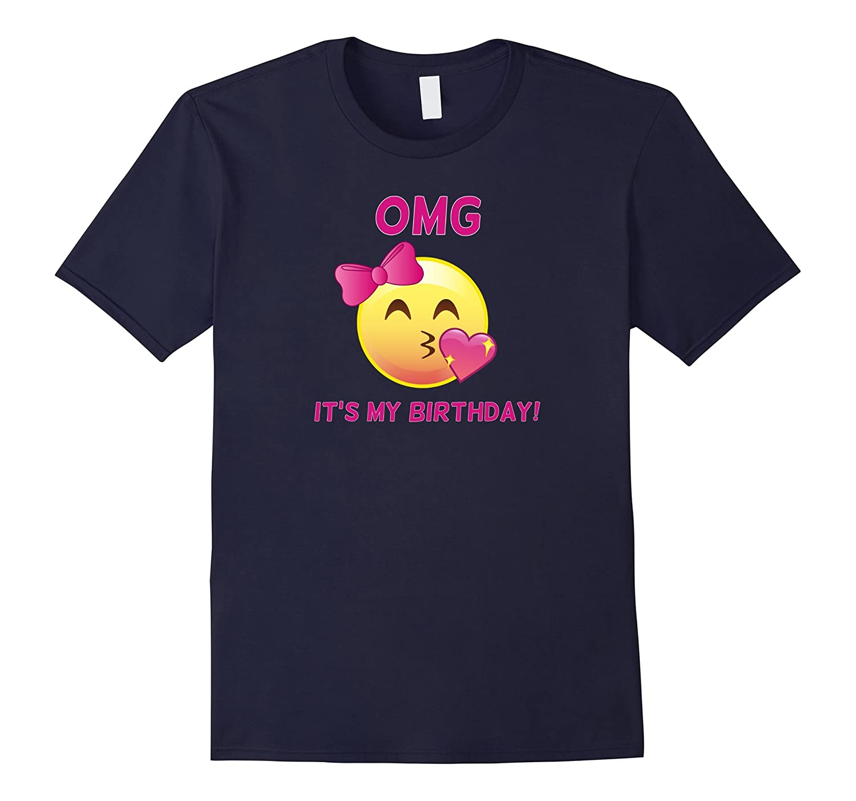 Pink Emoji OMG Its My Birthday T-Shirt - Pink Party Bow Tee-TD
