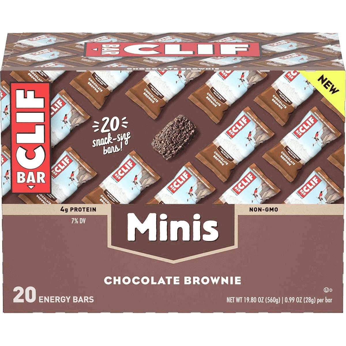Clifbar Clif Bars Mini Chocolate Brownie, Box of 20 by Clif Bar