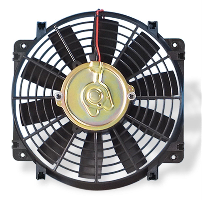 Flex-a-lite 108 Black 10'' Trimline Electric Fan (reversible)