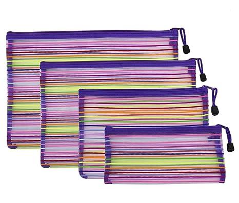 Amazon.com: Aimeio Bolsa de malla con cremallera, colorida ...