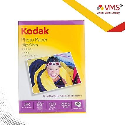 Kodak 180GSM Photo Paper for Canon, HP, Kodak, Epson, Dell, Lexmark  Printers - Pack of 100 Sheets