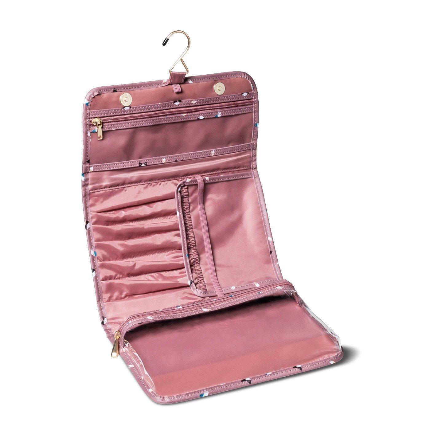 Sonia Kashuk153; Cosmetic Bag Hanging Organizer Valet Broken Houndstooth MULTI-COLORED