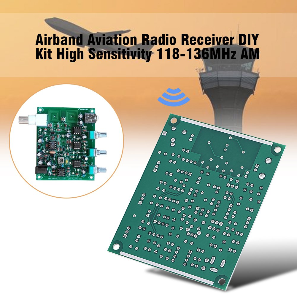 Zerone Airband Radio Receiver Aviation Band Diy Am Simple Fm Circuit Pc Kit High Sensitivity 118 136mhz Cell Phones Accessories