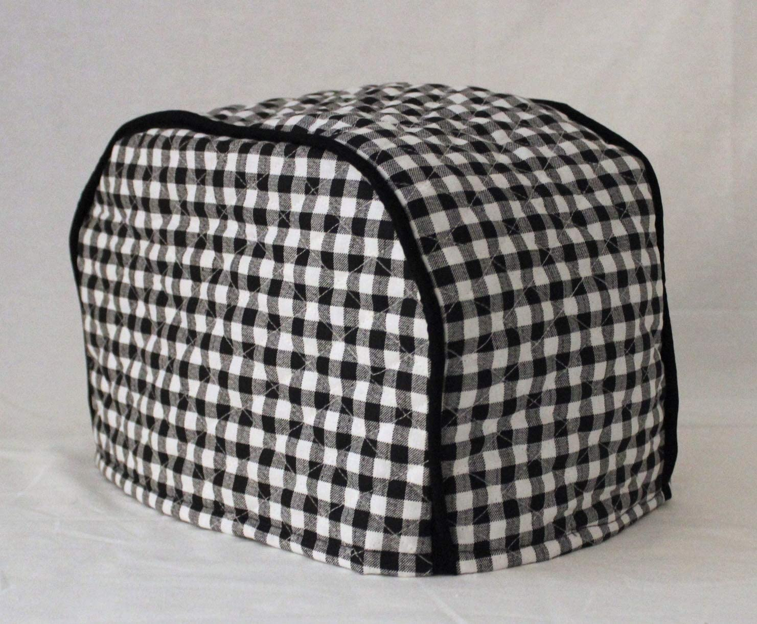 Simple Home Inspirations Premium Quilted Toaster Cover (2 Slice 12 x 8, Black Check)